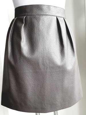 H&M Faux Leather Skirt grey
