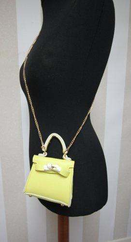 Mini sac jaune-doré