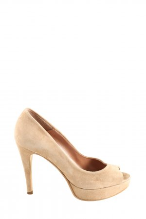 Mini Milano Peeptoe Pumps creme Business-Look