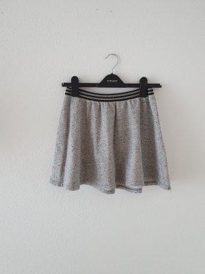 Mini Minrock Rock Unterteil Sweat Jersey Baumwolle grau meliert Gummibund edc s small Tellerrock