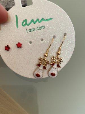 Mini-Ohrhänger Rentier + Weihnachtssterne