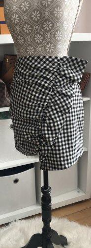 Zara Spódnica mini czarny-biały