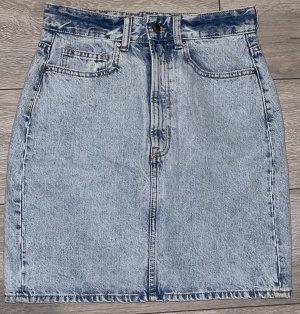 H&M Miniskirt light blue-azure