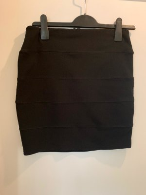 Amisu Spódnica mini czarny Poliester