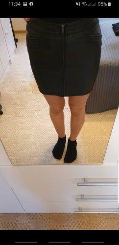 HM Leather Skirt black
