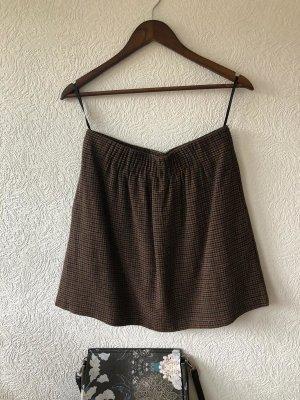 Esprit Tweedowa spódnica brąz-ciemnoniebieski Wełna