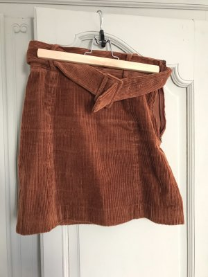 & other stories Mini rok bruin
