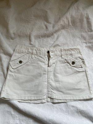 Mini Rock Jeans weiß Gr. 36 Zara