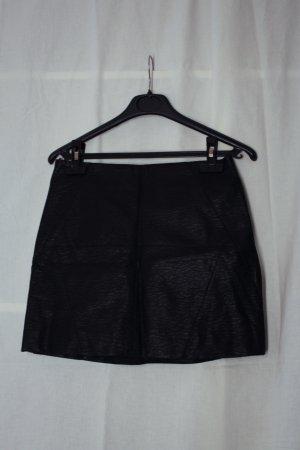 H&M Divided Spódnica z imitacji skóry czarny Imitacja skóra