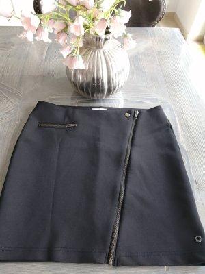Nümph Miniskirt black-silver-colored