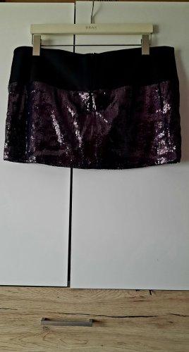 River Island Robe à paillettes noir-violet foncé