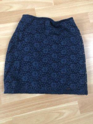 Hollister Koronkowa spódnica ciemnoniebieski