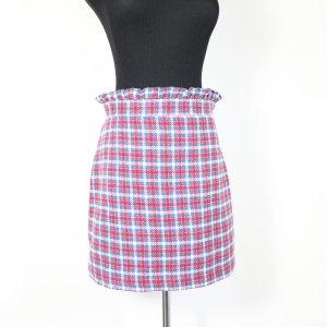 Topshop Falda de talle alto rojo-azul