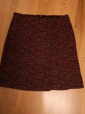 Steffen Schraut Asymmetry Skirt black-carmine viscose
