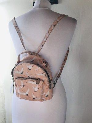 Parfois Mini Backpack dusky pink-light pink