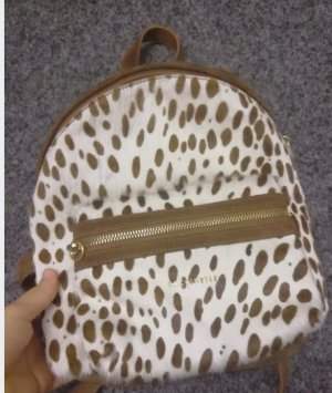 Coccinelle Mini Backpack light brown leather
