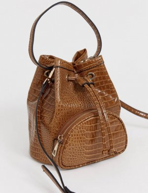 ASOS DESIGN Mini sac brun-chameau