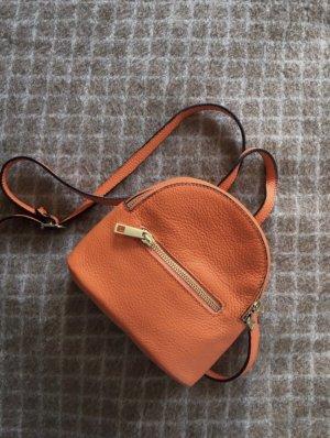 Mini Rücktasche orange Leder