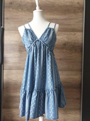 mini sommer Kleid blau
