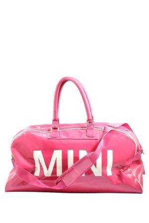 Mini Sac de sport rose-blanc lettrage imprimé style décontracté