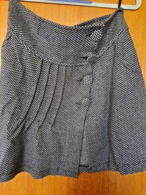Bershka Spódnica z dzianiny biały-czarny