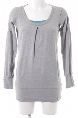 Mini Sweatshirt hellgrau-kadettblau Casual-Look