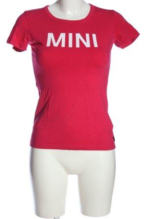 Mini T-shirt rose lettrage imprimé style décontracté