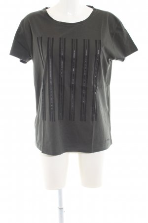 Mini T-Shirt hellgrau Streifenmuster Casual-Look