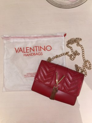 Valentino Mini sac rouge fluo cuir