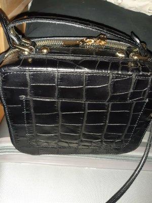 Mini Tasche von Genuine Leather in Kroko Prägung