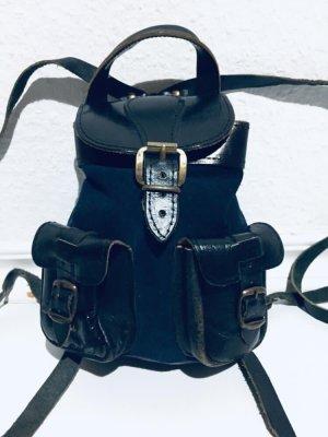 Mały plecak czarny-ciemnoniebieski
