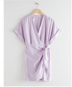 AndOtherStories Mini vestido púrpura