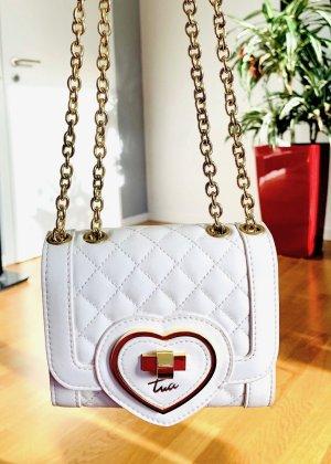 Minibag Weiß Gold gesteppt Herz Gliederkette Braccialini