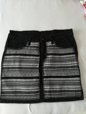 Esmara Denim Skirt white-black