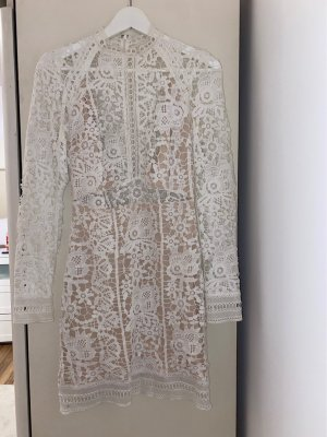 Asos Robe en maille tricotées blanc