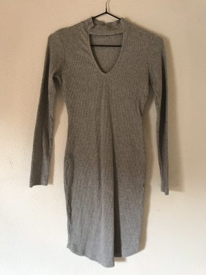 Bik Bok Vestido cut out gris claro