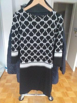 Ana Alcazar Mini vestido blanco-negro tejido mezclado