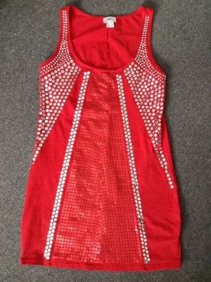 b.p.c. Bonprix Collection Abito con paillettes rosso scuro-rosso mattone