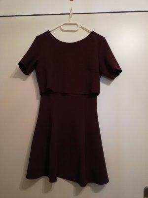 H&M Shortsleeve Dress bordeaux
