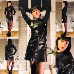 Minikleid aus Leder, Größe XS-S