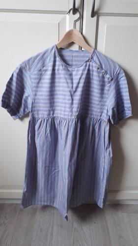 Minikleid blau/weiß