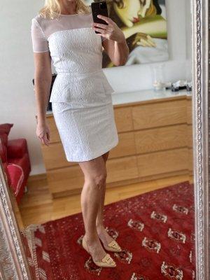 Blugirl Blumarine Sukienka z baskinką biały