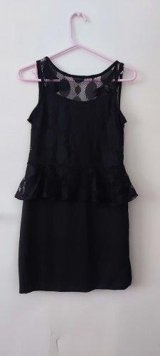 Voyelles Mini vestido negro
