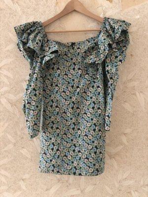 Zara Sukienka mini jasnoniebieski