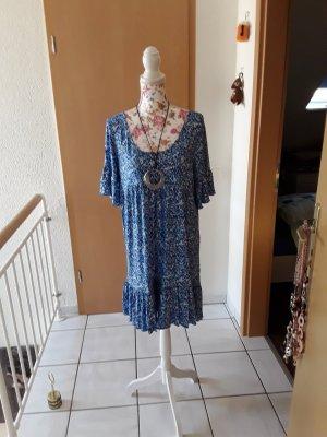Rainbow Shortsleeve Dress white-blue