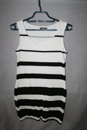 Minikleid gestreift schwarz / weiß Gr. S von Yessica - wie neu