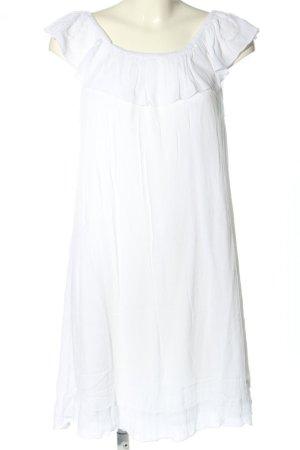 AJC Abito senza spalle bianco Cotone