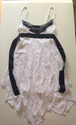 Melrose Vestido mullet blanco-negro