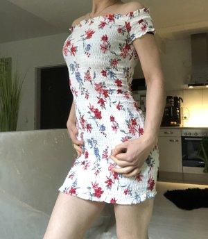H&M Robe courte rouge-blanc