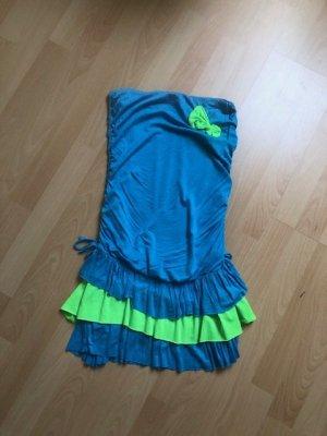 Minikleid in blau-grün